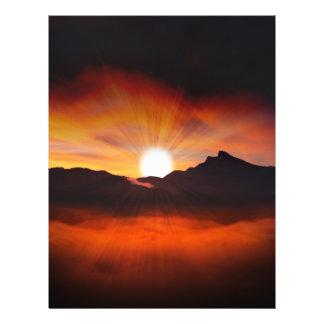 Luz del sol del día de fiesta folleto 21,6 x 28 cm