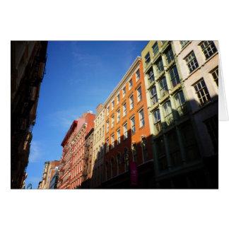 Luz del sol en los edificios de Soho, NYC Felicitación