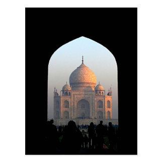 Luz del Taj Mahal de la foto de la arquitectura de Postal