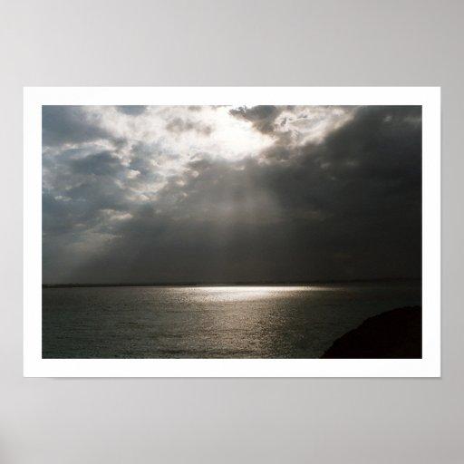 Luz desde arriba póster