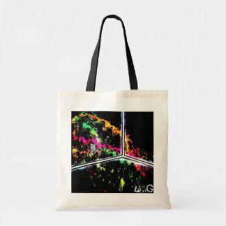 Luz negra/mercado de neón del w de la esquina del bolsas lienzo