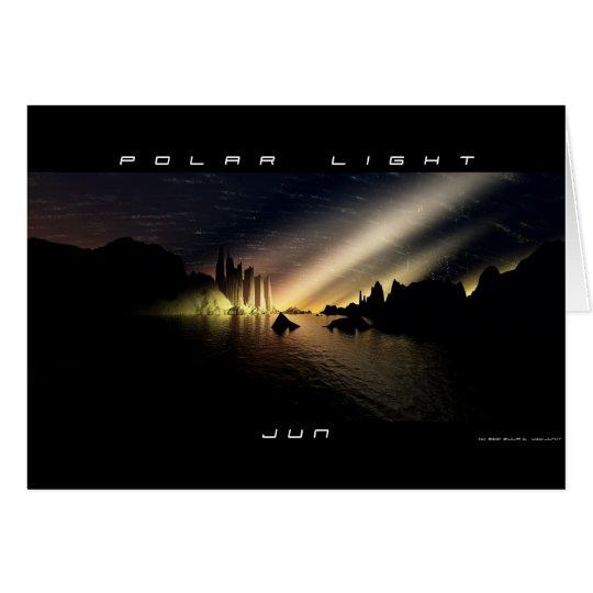 Luz polar tarjeta de felicitación