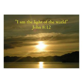 Luz - tarjeta cristiana de la tarjeta de la tarjetas de visita grandes