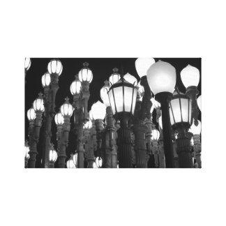 Luz urbana impresiones en lona estiradas