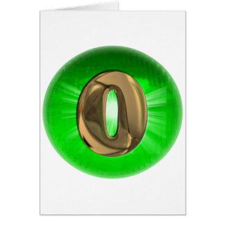 Luz verde del monograma O del oro del TAXI Tarjeta De Felicitación