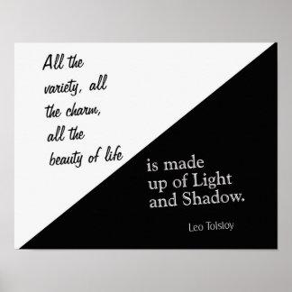 Luz y sombra - León Tolstói - impresión del arte