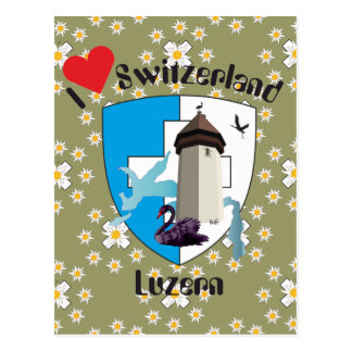 Luzern Suiza tarjeta postal