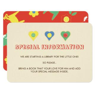 Lycka hasta los partes movibles de la información invitación 8,9 x 12,7 cm
