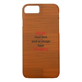 Lyer bajo de madera añade su propio texto funda iPhone 7