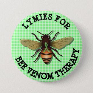 Lymies para el botón de la terapia del veneno de chapa redonda de 7 cm