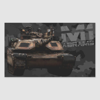 M1 Abrams Pegatina Rectangular