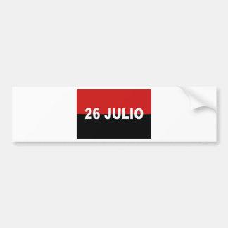 M-26-7 bandera - Bandera del Movimiento 26 de Pegatina Para Coche
