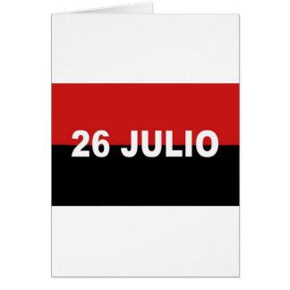 M-26-7 bandera - Bandera del Movimiento 26 de Tarjeta De Felicitación