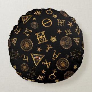 M.A.C.U.S.A. Símbolos y modelo mágicos de los Cojín Redondo