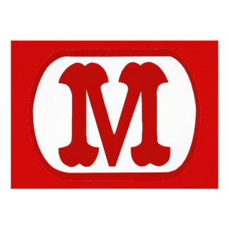 M en el icono oval Mario