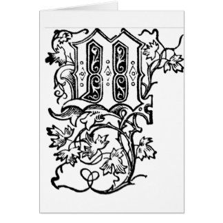 M - La letra decorativa M Tarjeton