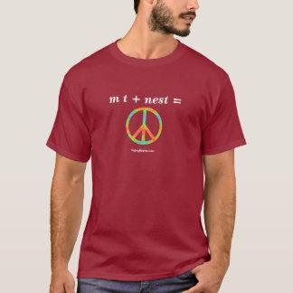 m t + jerarquía = paz camiseta