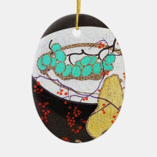 Mabuchi todavía da fruto vintage clásico de la vid ornamentos de reyes