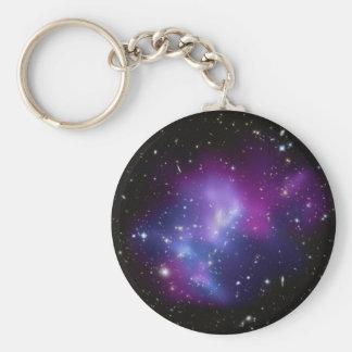 MAC J0717 del racimo de la galaxia Llavero Redondo Tipo Chapa