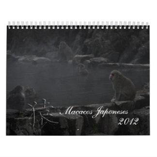 Macacos Japoneses Calendarios De Pared