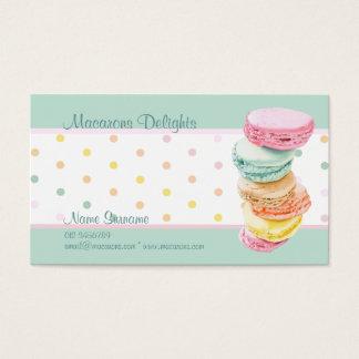 Macarons puntea la tarjeta de visita