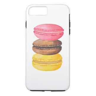 Macarrones de la acuarela de los dulces del funda para iPhone 8 plus/7 plus