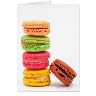 Macarrones franceses tarjeta de felicitación