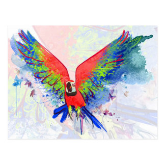 Macaw del loro del Amazonas Postal