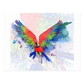 Macaw del loro del Amazonas Tarjeta Postal