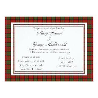 MacDonald de la invitación escocesa del boda de