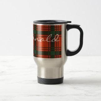 Macdonald del modelo escocés del tartán de Sleate Taza De Café