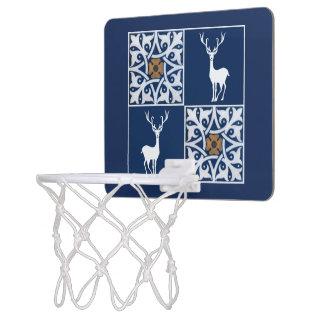 Macho blanco y modelo decorativo de los cuadrados mini aro de baloncesto