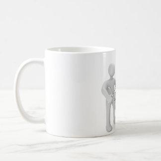 Macho cambio de neumático taza de café
