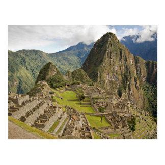 Machu Picchu, ciudad del inca en la postal de Perú