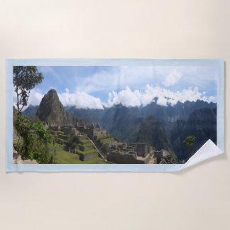 Machu Picchu Perú, toalla de playa azul de la