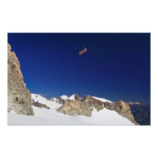 Macizo y mer de Mont Blanc glace Papelería Personalizada