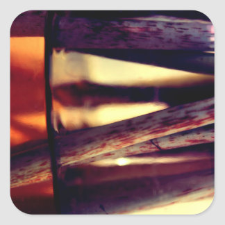 Macro abstracta pegatina cuadrada