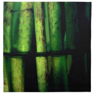 Macro verde servilleta de tela