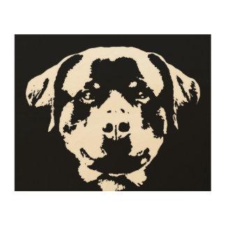 """Madera 10"""" de la plantilla de Rottweiler"""" arte de"""