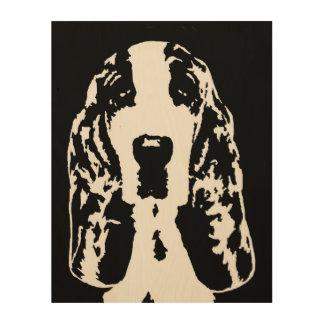 """Madera 11"""" de la plantilla de Basset Hound"""" arte"""