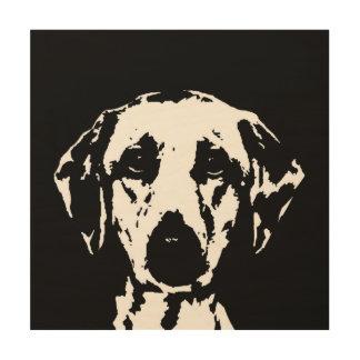 """Madera 12"""" de la plantilla de Labrador"""" arte de la"""