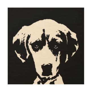 "Madera 12"" de la plantilla del beagle"" arte de la"