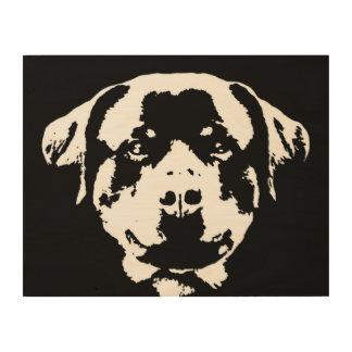 """Madera 14"""" de la plantilla de Rottweiler"""" arte de"""