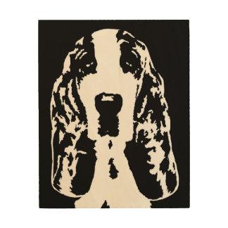 """Madera 8"""" de la plantilla de Basset Hound"""" arte de"""