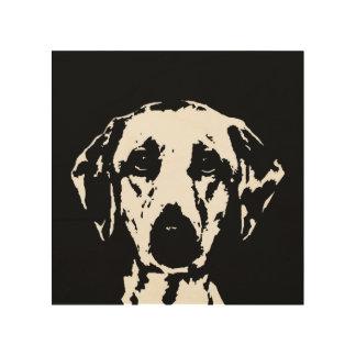 """Madera 8"""" de la plantilla de Labrador"""" arte de la"""