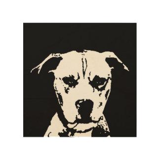 """Madera 8"""" de la plantilla de Pitbull"""" arte de la"""