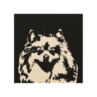 """Madera 8"""" de la plantilla de Pomeranian"""" arte de"""