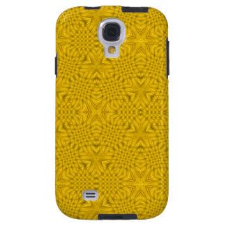 Madera abstracta amarilla funda galaxy s4