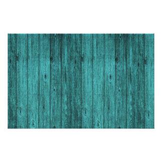 madera azul folleto 14 x 21,6 cm