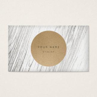 Madera blanca de plata de Kraft del círculo Tarjeta De Negocios